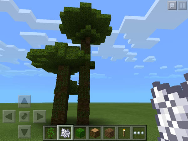 how to make a good treehouse in minecraft pe