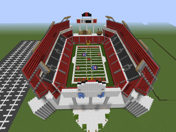 Guidecraft raymond james stadium in minecraft for Dining options at at t stadium